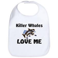 Killer Whales Love Me Bib