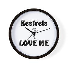 Kestrels Love Me Wall Clock