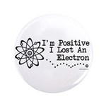 "Positive Electron 3.5"" Button (100 pack)"