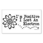 Positive Electron Rectangle Sticker