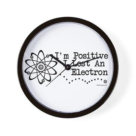 Positive Electron Wall Clock