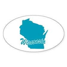 State Wisconsin Oval Decal