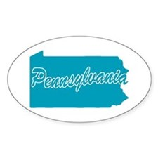 State Pennsylvania Oval Decal