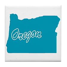 State Oregon Tile Coaster