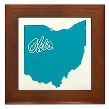 State Ohio Framed Tile