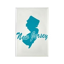 State New Jersey Rectangle Magnet