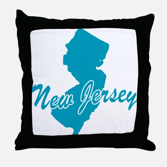 State New Jersey Throw Pillow