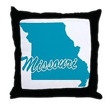 State Missouri Throw Pillow