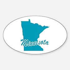 State Minnesota Oval Decal