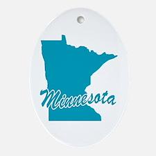 State Minnesota Oval Ornament