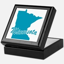 State Minnesota Keepsake Box