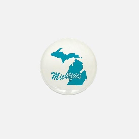 State Michigan Mini Button