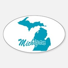 State Michigan Oval Decal