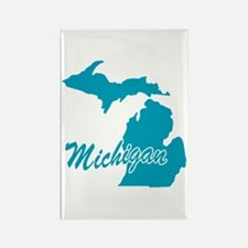 State Michigan Rectangle Magnet