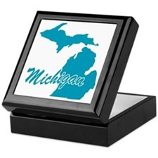 State Michigan Keepsake Box