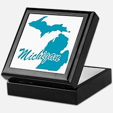 State Michigan Keepsake Box