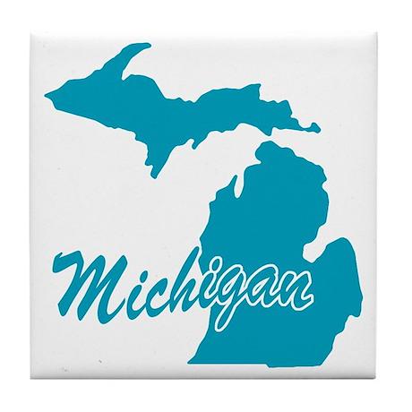 State Michigan Tile Coaster