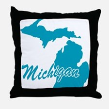 State Michigan Throw Pillow