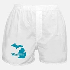 State Michigan Boxer Shorts