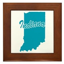 State Indiana Framed Tile