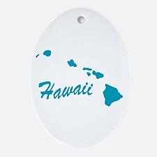 State Hawaii Oval Ornament