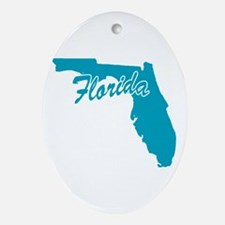 State Florida Oval Ornament