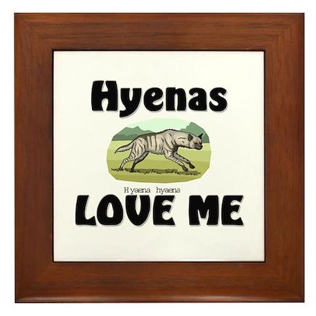 Hyenas Love Me Framed Tile
