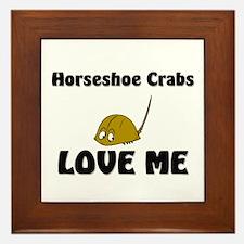 Horseshoe Crabs Love Me Framed Tile
