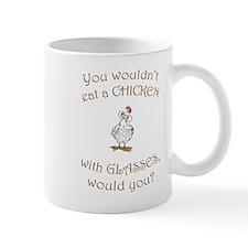 Chick with glasses (PETA) Mug
