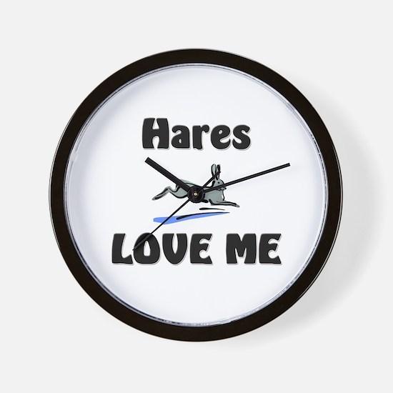 Hares Love Me Wall Clock