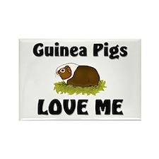 Guinea Pigs Love Me Rectangle Magnet