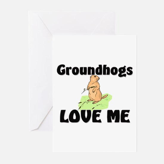 Groundhogs Love Me Greeting Cards (Pk of 10)