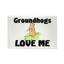Groundhogs Love Me Rectangle Magnet