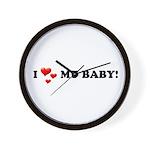 I Love My Baby Wall Clock