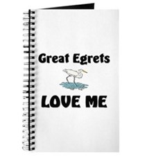 Great Egrets Love Me Journal