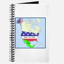 Funny Mexico America Map Journal