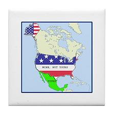 Funny Mexico America Map Tile Coaster