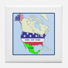 Funny Mexico America Map Tile Coaster