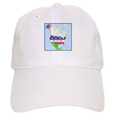 Funny Mexico America Map Baseball Cap