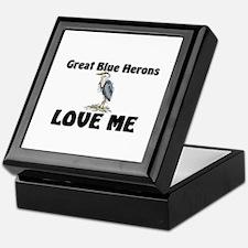 Great Blue Herons Love Me Keepsake Box
