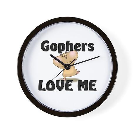 Gophers Love Me Wall Clock