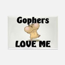 Gophers Love Me Rectangle Magnet