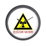 NUCLEAR HAZARD Wall Clock