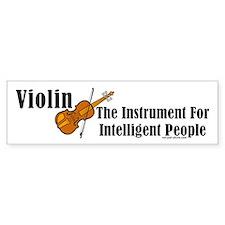 Intelligent Violin Bumper Bumper Sticker