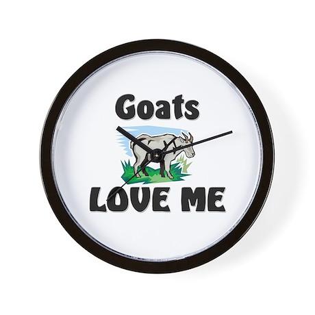 Goats Love Me Wall Clock