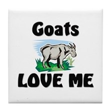 Goats Love Me Tile Coaster