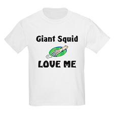 Giant Squid Love Me Kids Light T-Shirt