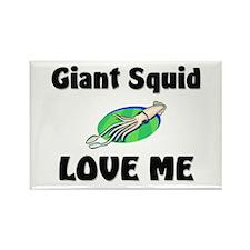 Giant Squid Love Me Rectangle Magnet