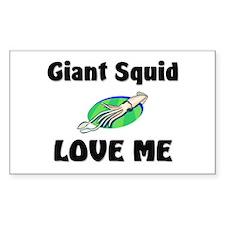 Giant Squid Love Me Rectangle Sticker