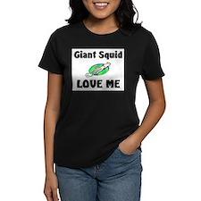 Giant Squid Love Me Women's Dark T-Shirt